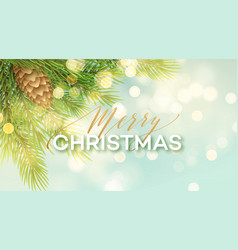 merry christmas banner template vector image
