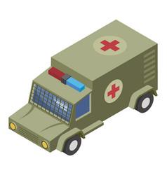 Military ambulance vector