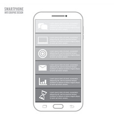mobile phone for infographic template vector image