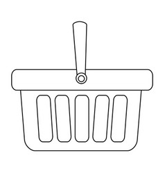 monochrome contour with shopping basket with one vector image