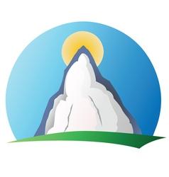 Mountain logo 1 vector image