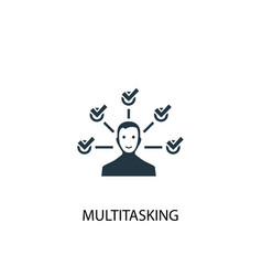 Multitasking icon simple element vector
