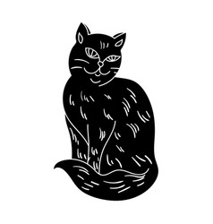 nebelung icon in black style isolated on white vector image