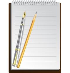 Notebook pens vector