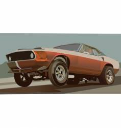 old drag car vector image