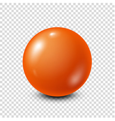 Orange lottery billiardpool ball snooker vector