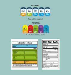 Paper with nutrition facts vector