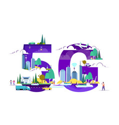 People using smartphones 5g online wireless system vector