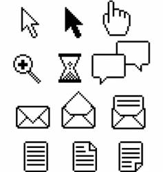 pixel icons vector image