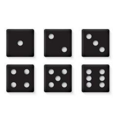 plastic black dices for casino vector image