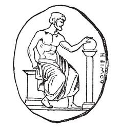 Pythagoras vintage vector