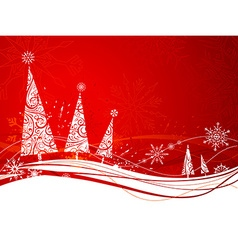 Red winter background vector