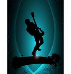 rock musician poster vector image
