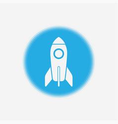 rocket icon sign symbol vector image