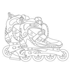Roller skates 03 vector