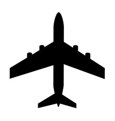 silhouette black and white aircraft in sky vector image