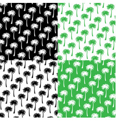 Silhouette palm tree patterns vector