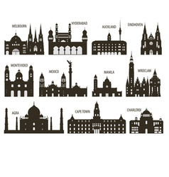 Silhouettes cities vector