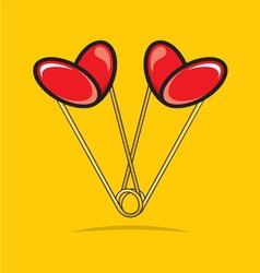 Spajalica srce bojaG vector