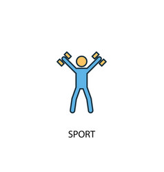 sport concept 2 colored line icon simple yellow vector image