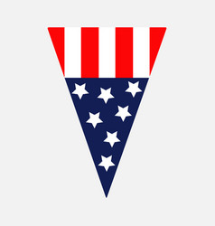 triangle pennant shape american flag star and vector image