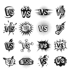 versus icon sketch set vector image