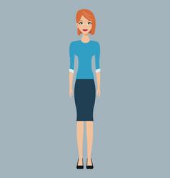Woman character member community vector