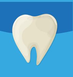 yellow bad ill teeth cartoo nstyle blue vector image