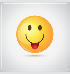 yellow smiling cartoon face positive people vector image