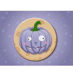 Zombie pumpkin icon vector image