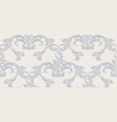 baroque damask background ornament decor for vector image