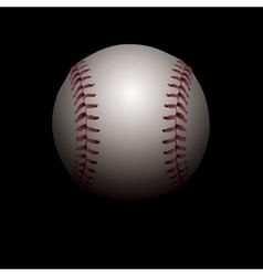 Baseball on Black Background vector image vector image