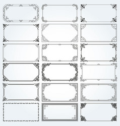 decorative rectangle frames and borders set vector image vector image