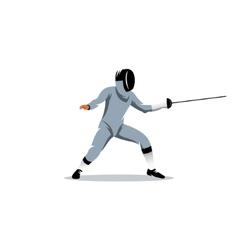 Foil fencer sign vector image vector image