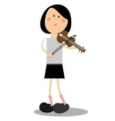 Girl musicant 16 vector image