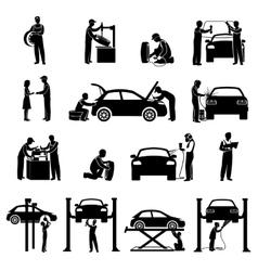 Mechanic Icons Black vector image vector image