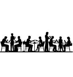 restaurant silhouette vector image vector image