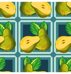 seamless pattern of green pear vector image