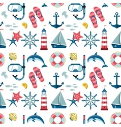 Seamless sea pattern vector image vector image