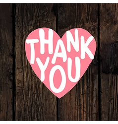 thank you wooden vector image vector image