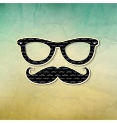 Vintage Hipster Poster vector image