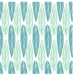 seamless pattern with feather vector image vector image