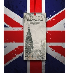 Big Ben Tower London Landmark Hand-drawn Sketch vector image