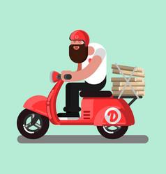 delivery sketch boy vector image vector image