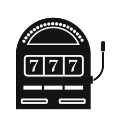 Slot machine jackpot black simple icon vector image vector image