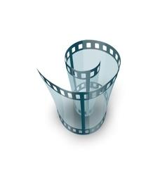 Spiral of film strip vector image