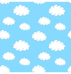 Vintage Clouds Seamless Pattern vector image vector image