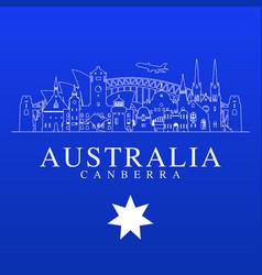 australia travel landmarks vector image