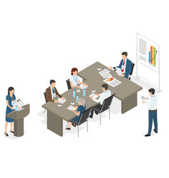 business people on meeting at office vector image vector image
