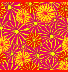 hand drawing bright decorative wild flowers vector image vector image